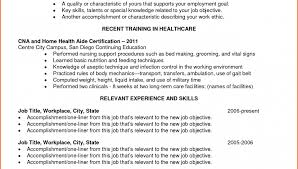 Cna Resume Objective Examples Imposing Home Health Care Aide Sle ...