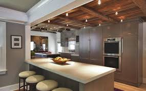 modern kitchen lighting design. 32 Beautiful Kitchen Lighting Ideas For Your New - Exposed Beams And Spotlights Modern Design