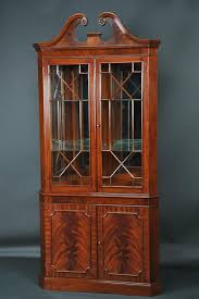 antique corner curio cabinet luxury antique corner cabinets with glass doors