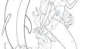 Dolphin And Mermaid Coloring Pages Contentparkco