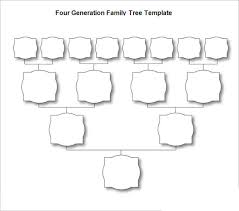 blank pedigree chart 4 generation blank family tree template 31 free word pdf documents download