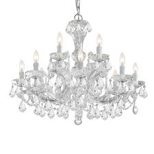 crystorama maria theresa 12 light swarovski strass crystal gold chandelier