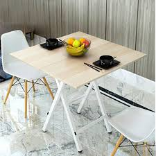 jinghao folding table modern minimalist environmentally friendly collapsible small dining table round table restaurant coffee table b126 square 60cm maple