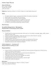 Kitchen Help Sample Resume Kynguyen360 Info