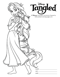 Small Picture Tangled Coloring Pages For Kids Tangled Coloring Sheets