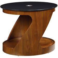 black glass oval lamp table jf304 wb in curve lcd plasma tv stands