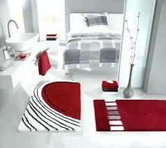 black bathroom rug set black bathroom mats guide to modern bathroom mats and rugs ping red