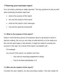 Sample Formal Report Report Structure Template Academic Example