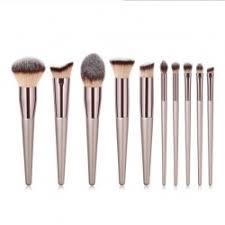 10pcs chagne colour makeup brush set