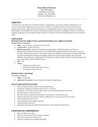 Recreation Resume - Kleo.beachfix.co