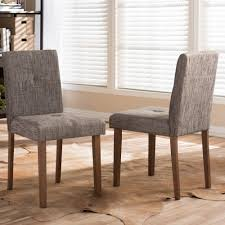 baxton studio elsa gray fabric upholstered dining chairs set of 2 with plans 15