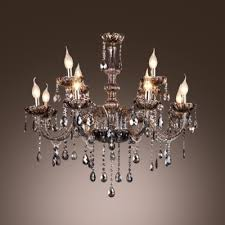 fashion style smoke crystal chandeliers beautifulhalo pertaining to modern property smoke crystal chandelier remodel