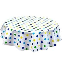 round table cloth round big dot navy oilcloth tablecloth round table cloth