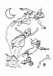 Small Picture Print Home Tinkerbell Peter Pan Coloring Pages And Peter Pan