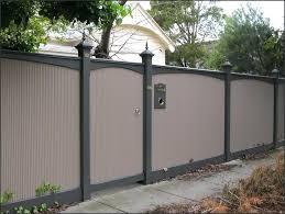 terrific corrugated metal privacy fence design panels