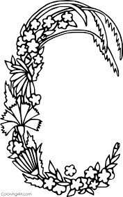 Coloring pages can be great for learning as they are fun and are also super great for stress relief! Wheat Shaped Letter C Coloring Page Coloringall