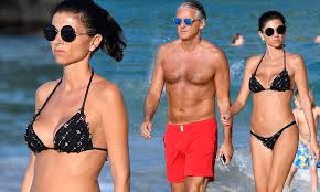 Roberto Mancini steps out with new girlfriend in St Barths