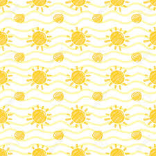 Sun Pattern New Seamless Pattern With Sun And Dots Hand Drawn By Marker Sunshine