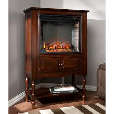 Arlington 32.25 in. W Electric Fireplace Tower in Mahogany-HD90602 ...
