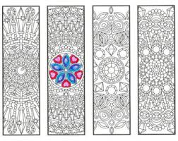 Small Picture Coloring Bookmarks Coloring Book Bundle 15 printable adult