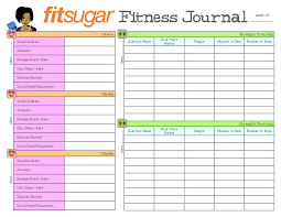 6 best images of printable exercise logs journals fitness journal template