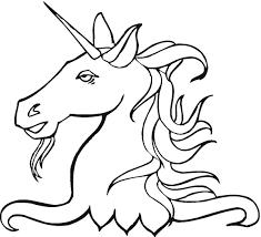 Volto Di Unicorno Da Colorare Per I Bambini Gratis Disegni Da