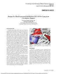 2018 Design Of Medical Devices Conference Pdf Design Of A Muscle Powered Soft Robotic Bi Vad For Long