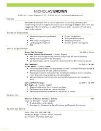 Internship Resume Template Download Lovely Basic Resume Cover Letter