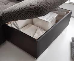 Couch Jerrica Grau Schwarz 325x220 Cm Bettkasten