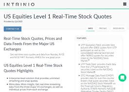 Real Time Stock Quotes Best Intrinio Us Equities Level 48 Real Time Stock Prices API Overview