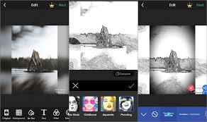 screenshots of the photogrid iphone app