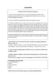 write a movie review film review creative writing and literacy english worksheet how to write a film review