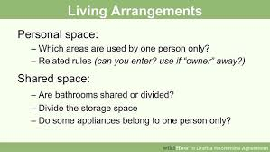 Sample Roommate Contract How To Draft A Roommate Agreement 13 Steps With Pictures