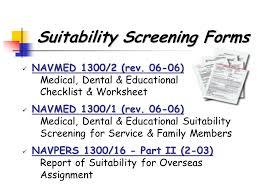 navy overseas screening form suitability screening medical assignment screening 2006 patient