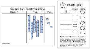 3 Digit Place Value Chart Place Value Archives Math Coachs Corner
