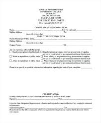 Sample Employee Complaint Form Template. Employee Complaint Form ...