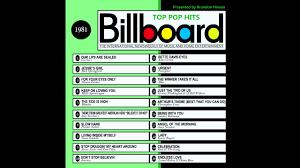 Pop Charts 1980 Billboard Top Pop Hits 1981