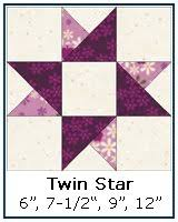 Free Paper Piecing Patterns Library & ... Twin Star quilt block tutorial ... Adamdwight.com