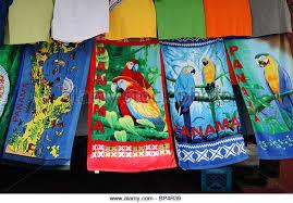 bathroom stall panama colourful beach towels for sale on market stall portobelo panama stock