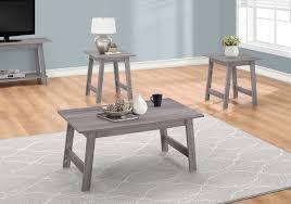 table set 3pcs set grey monarch