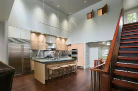 image contemporary kitchen island lighting. Modern Kitchen Island Lighting Be Equipped With Teak Cabinets And Steel Fridge: Full Size Image Contemporary