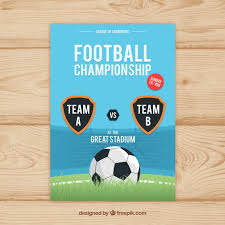 Soccer League Flyer With Ball Stock Images Page Everypixel