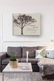 personalized family tree lovebirds stretched canvas wall art make your wedding anniversary on personalised wall art family tree with personalized gift for family family tree canvas art make your