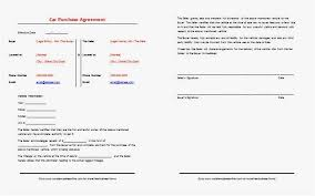 Vehicle Agreement Form Telemaque Adorable Auto Purchase Agreement Form
