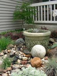 cool water feature ideas for small gardens desert rock garden ideas brilliant small rock garden and fountain