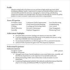 Sample Supervisor Resume 15 Download Free Documents In