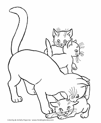 Small Picture Coloring Pages About Cats Coloring Pages