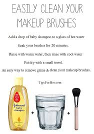 homemade makeup brush cleaner