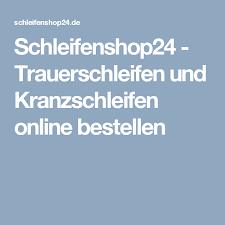 Schleifenshop24 Trauerschleifen Und Kranzschleifen Online