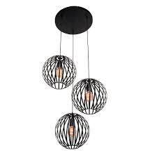 Hanglamp Tres 3 Lichts Zwart Freelight H7733z Lamponlinenl